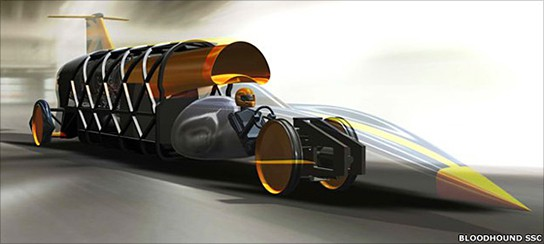 Bloodhound SSC - contenter for World's Land Speed Record 544x244px