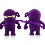 Bone Collection Ninja USB Flash Drive - purple 640x480px