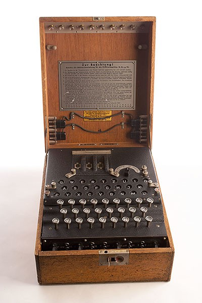 CIA Spy Gadgets - Enigma cipher machine 400x600px