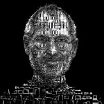 designer turns iProducts into a collage of Steve Jobs