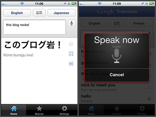 Google Translate App for iPhone screenshots main 544px
