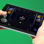 ThinkGeek JOYSTICK-IT iPad Arcade Stick - in action 600x470px