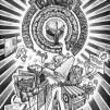 "Jason Freeny Hand-drawn ""Burger"" illustration 482x600px"