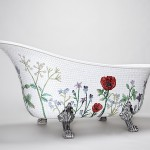 Mosaic Sweden classic bathtub is of mosaics and lion's feet