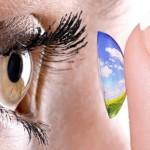 smart contact lens monitors wearer's health & display info