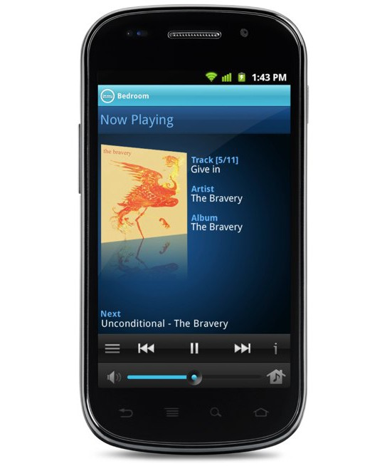 Sonos Controller for Android 544px