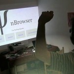 kinect-hack: swim the web instead of surfing the web
