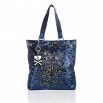 Tokidoki Salinas Sequined Tote Handbag (skull & heart) 800x800px