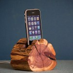 docking your iPhone goes natural with this Cedar dock