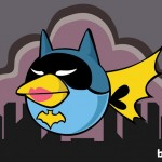 Angry Birds Batgirl as illustrated by Bite 580x408