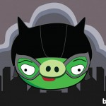 Angry Birds Catwoman as illustrated by Bite 580x408px