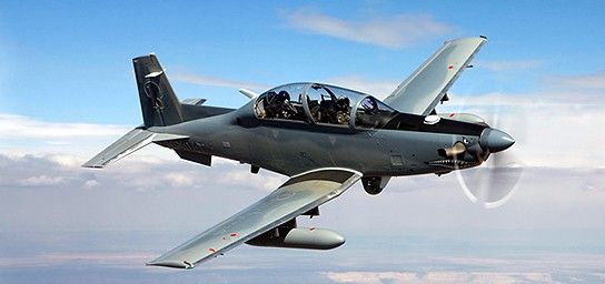 Beechcraft AT-6 Surveillance and Light Attack Aircraft 544x256px