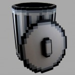 8-bit pixel trash can – holds your real world deletes