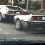 what follows this DeLorean is another DeLorean hot on its heel