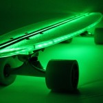 Flexdex Clear29 LT LED Skateboard - green 588x388px