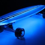 Flexdex Clear29 LT LED Skateboard - blue 588x388px
