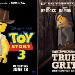 LEGO Oscar Best Picture Nominees Movie Posters - Toy Story 3 & True Grit 700x480px