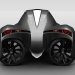 Manta is a three-wheel amphibious electric concept vehicle