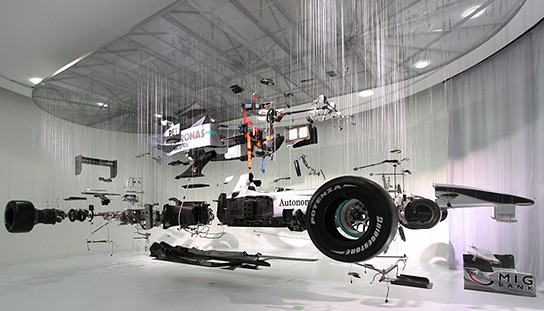 Mercedes Benz World F1 display 544x311px
