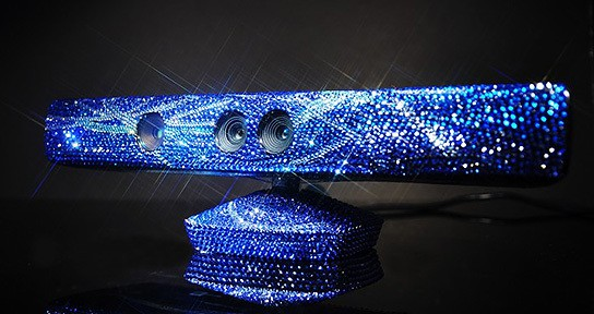 Microsoft Kinect-Kylie Minogue Swarovski Crystals Studded Kinect 544x288px