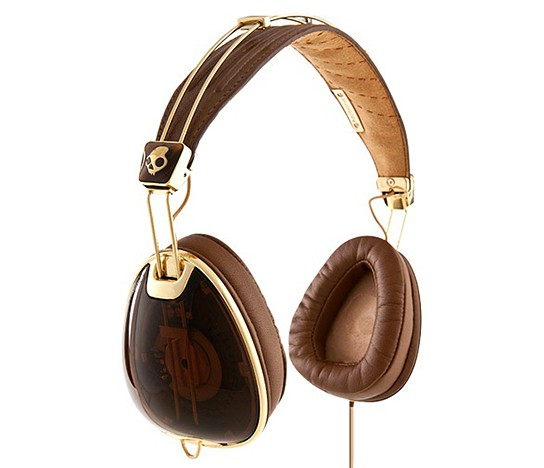 Skullcandy ROC Nation Aviator - Brown and Gold version 544x468px
