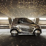 Smart electric given a glittering disco ball treatment