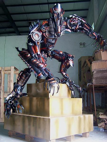 Steel Legend scrap metals Transformers sculpture - The Fallen 450x600px
