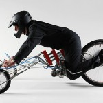 The EX Electric Trike - side view with rider 640x428px