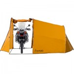 The Tenere Expedition Tent with motorcycle parked inside 600x400px