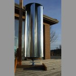 The Zoetrope Wind Turbine on a temporary stand 800x600px