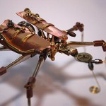 pocket watch parts + old bullets = Steampunk Bullet Insects