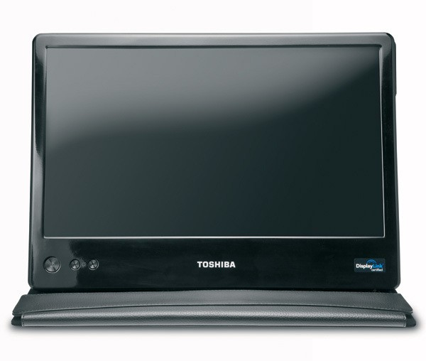 Toshiba 14-inch USB Mobile Monitor - front view 600x508px