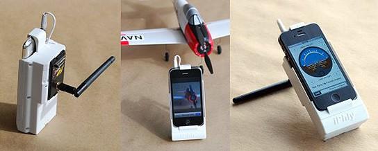 iPhly Radio Control with iPhone 544x218px