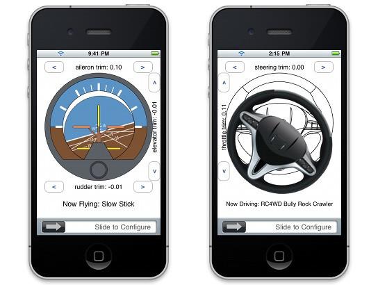 iPhly Radio Control with iPhone 544x410px