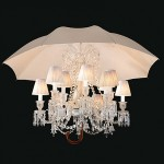 stunning Marie Coquine chandelier sheltered by an umbrella
