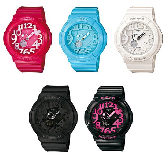 coming soon: CASIO Baby-G with colorful LED backlight ...