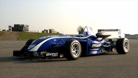 Cooper Tires diamond-studded tires on the Formula 3 race car 544x306px