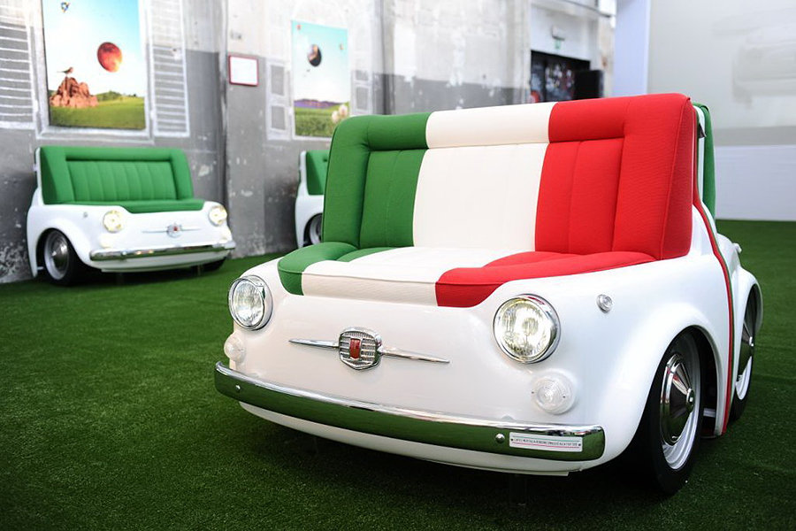 1970s fiat 500 turned into beautiful furniture pieces. Black Bedroom Furniture Sets. Home Design Ideas