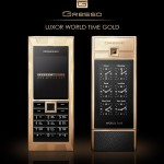 Gresso presents LUXOR WORLD TIME GOLD mobile phone