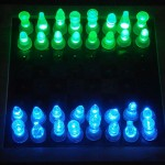 check out this stunning DIY LED lighted chess set