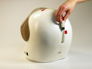 LEGO helmet audio book reader 800x600px