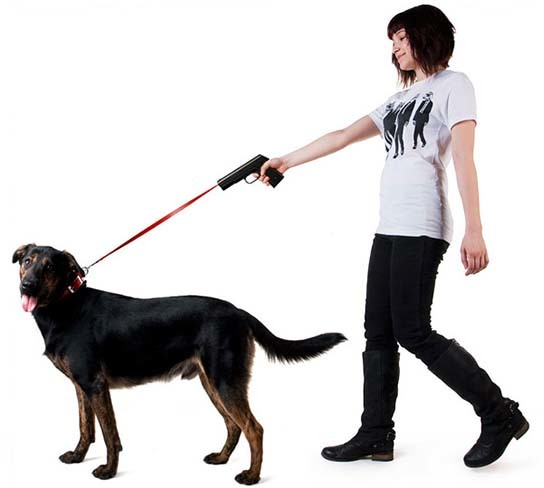 Provodokus - Gun-shaped Dog Leash 544x488px