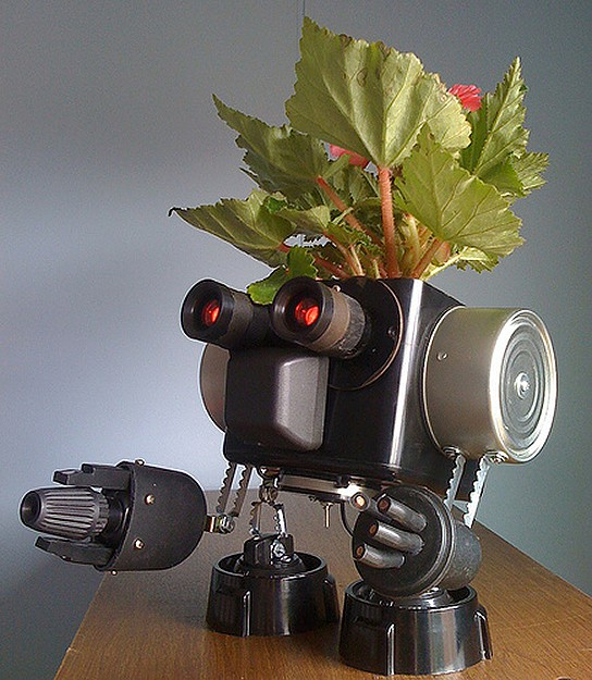 Robo-planters by M.C. Langer 544x625px
