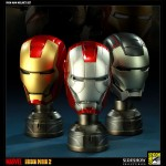 Sideshow Collectibles Comic-Con Exclusives - Iron Man Bust Set Prop Replica 900x600px