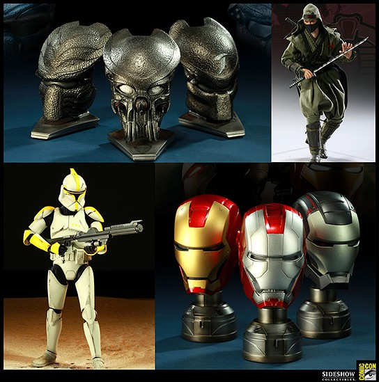 Sideshow Collectibles Comic-Con Exclusives 544x549px