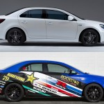 Suzuki unveiled two Kizashi Concepts, including one hybrid
