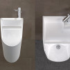 TANDEM Urinal-Sink by Kaspars Jursons - front & top views 800x600px