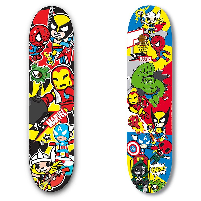 Tokidoki x marvel spring gear launched include - Skateboard dessin ...