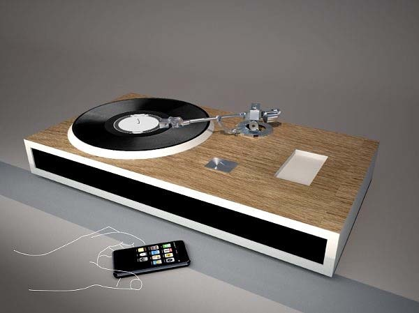 Iphone Dock And Vinyl Player Concept Best Of Both World