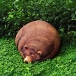 amazingly lifelike big sleeping Grizzly bear bean bag